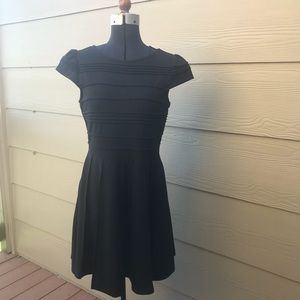 Black Knit A-line Dress